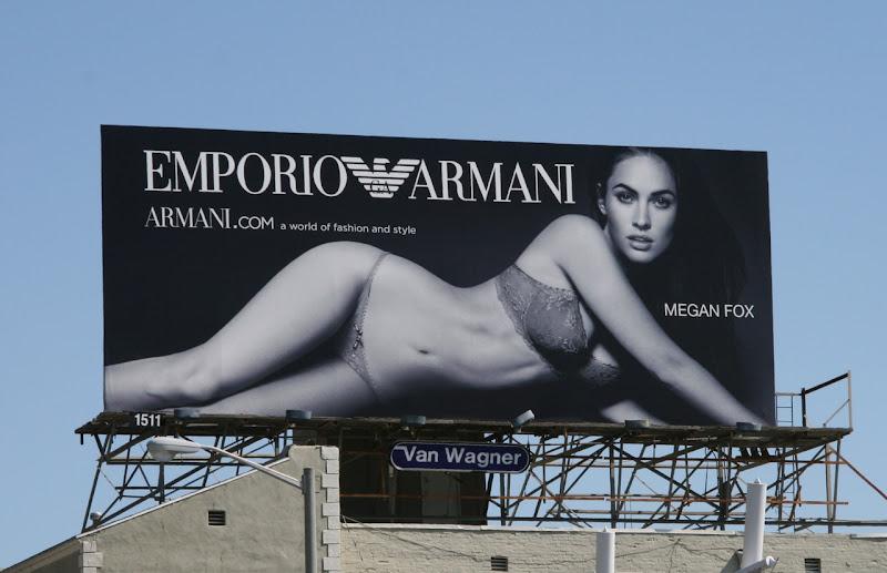 Megan Fox Emporio Armani lingerie billboard