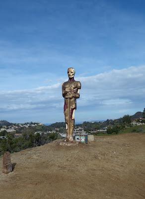 Fake Oscar statue Runyon Canyon 2010
