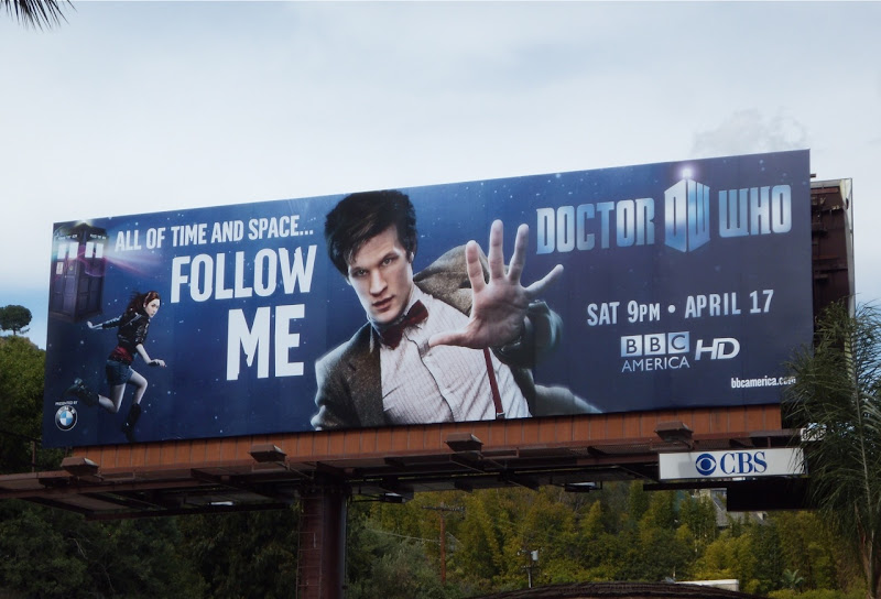 Doctor Who Matt Smith USA TV billboard