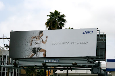 Asics running shoes billboard