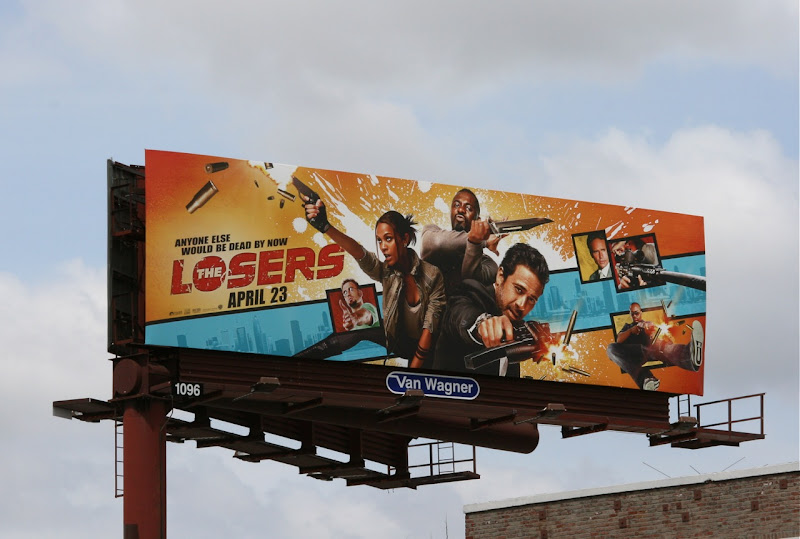 The Losers movie billboard
