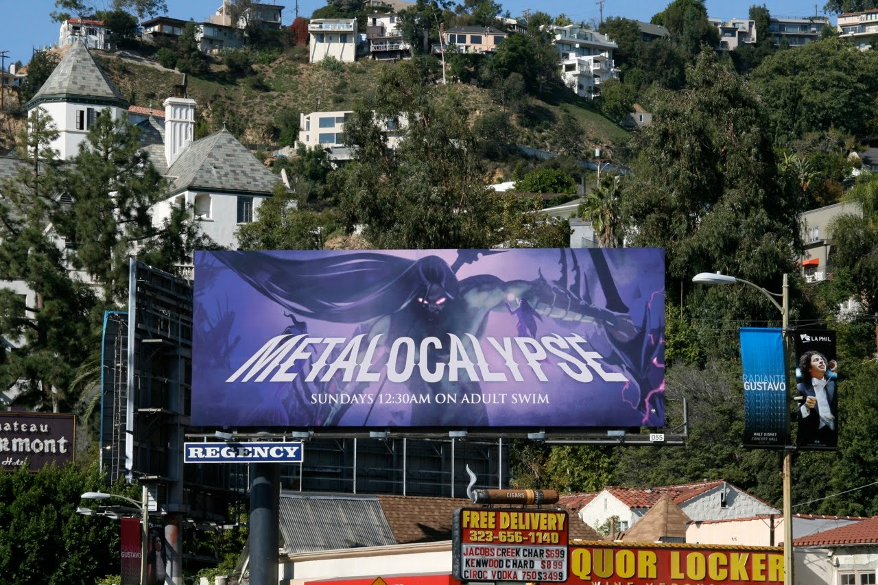 Metalocalypse Adult Swim TV billboard ANIMATION WEEK takes a slightly darker ...