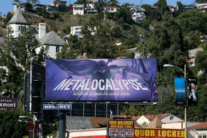 Metalocalypse Adult Swim TV billboard