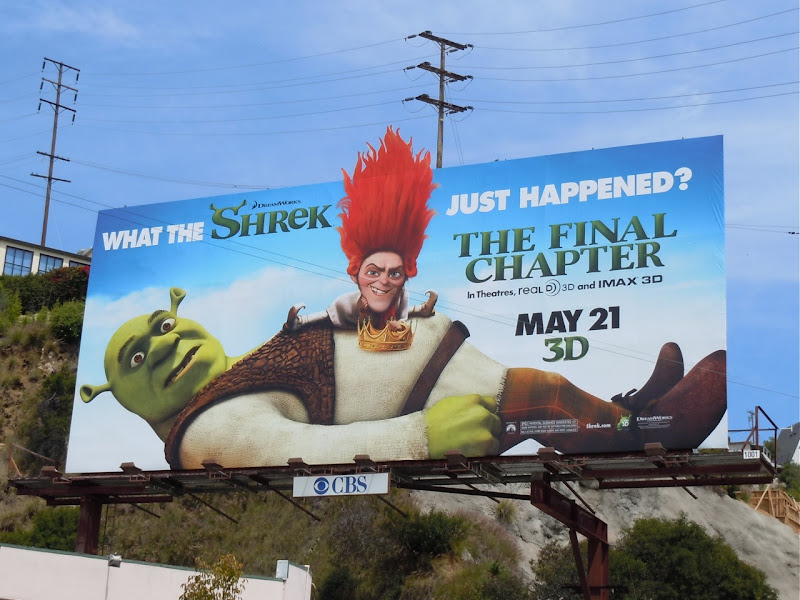Shrek Forever After movie billboard