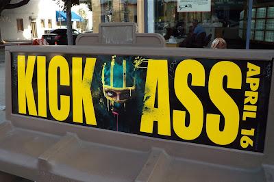 Kick-Ass bus bench poster