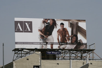 Armani Exchange hot fashion billboard