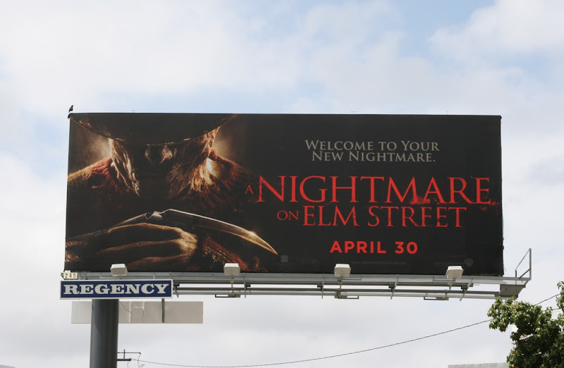 A Nightmare on Elm Street remake billboard