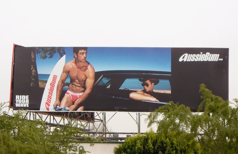 AussieBum male underwear billboard