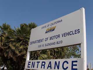 Glendale DMV entrance sign