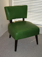 Crate & Barrel Marsden wasabi green leather chair