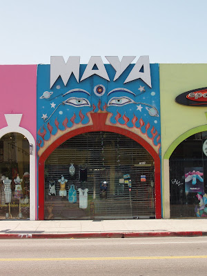 Colourful Maya store front on Melrose Avenue