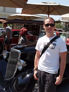 Jason in Hollywood at The Gilmore Heritage Auto Show at The Farmer's Market, The Grove