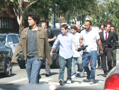 Adrian Grenier Jeremy Piven cast of Entourage Santa Monica Blvd