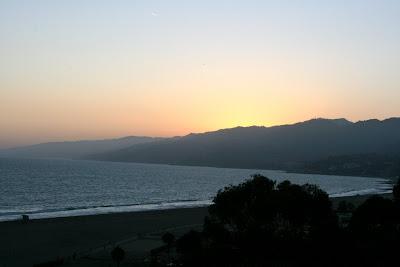 View of Pacific Coastline along Santa Monica