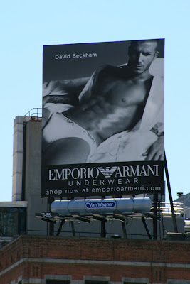 David Beckham Armani underwear billboard from New York