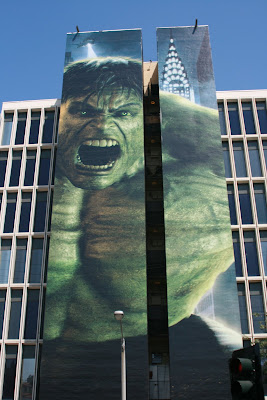 The Incredible Hulk movie billboard on Sunset Blvd