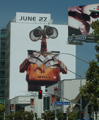 Wall-E movie billboard