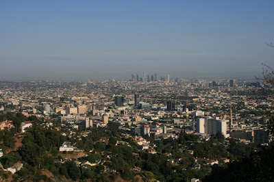 L.A. cityscape view from Runyon Canyon