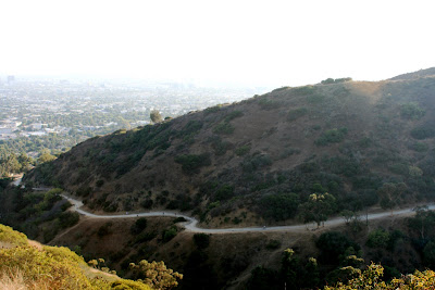 View of Runyon Canyon walking trail