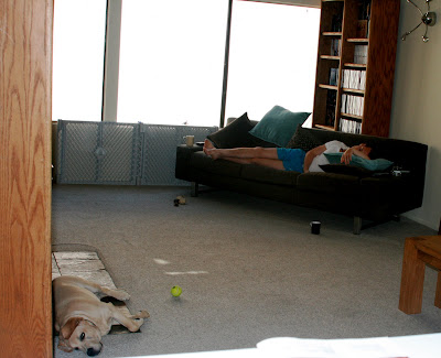 Jason and Cooper catching a few zzzzz's