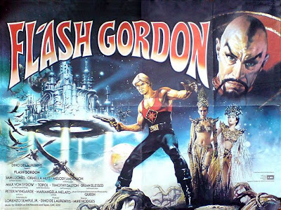 1980's Flash Gordon Movie poster