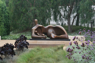 Henry Moore's Draped Reclining Mother and Baby sculpture