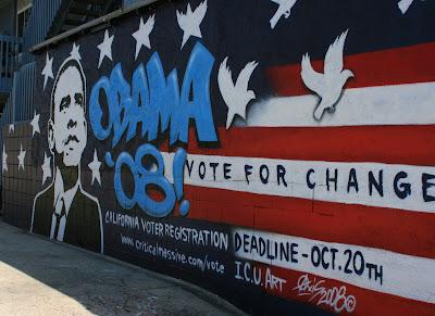 Obama' 08 Venice Beach mural
