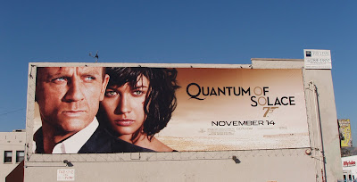 Quantum of Solace movie billboard on Melrose Avenue