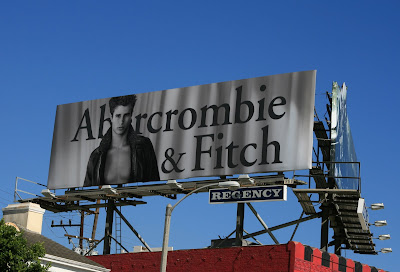 Christmas Abercrombie & Fitch billboard advertising