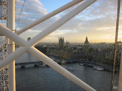 The London Eye - Houses of Parliament view