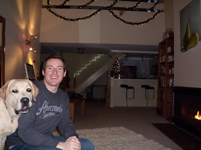 Christmas at home with pup