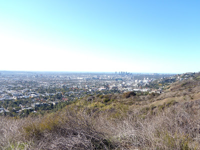 Panoramic view from Runyon Canyon. Last night I went to my first ever