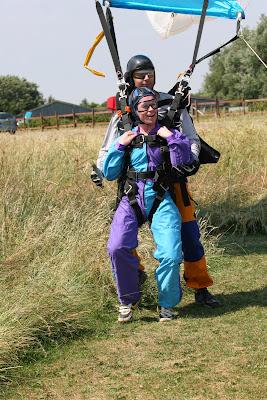 Landing after my tandem skydive