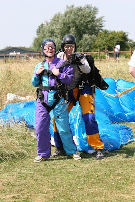 Jason's tandem skydive on the ground