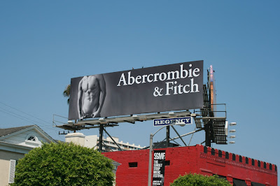Abercrombie Fitch hot male model billboard