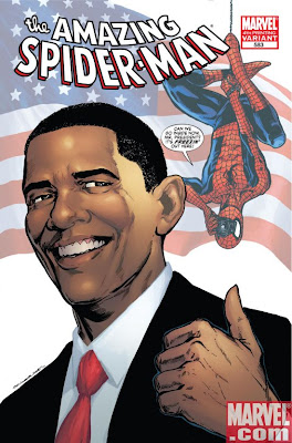 Amazing Spiderman 583 Obama cover 4th printing