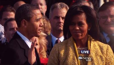 President Obama sworn in as the 44th President