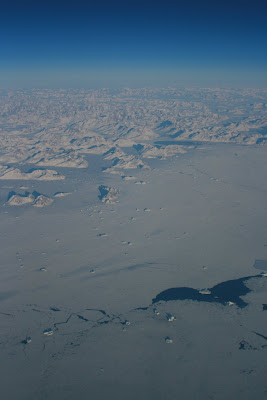 Above the clouds Greenland coast