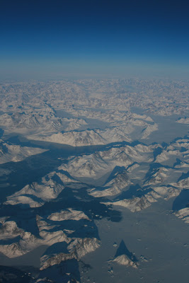 Greenland from above the clouds