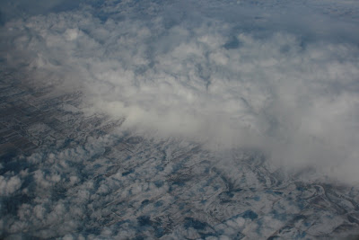 Above the clouds over Canada