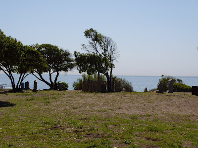 Beach graveyard set at Sycamore Cove