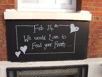 Valentine's Day foodie message