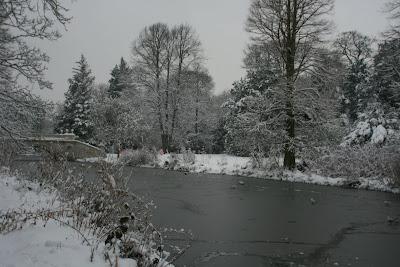 Snowy Chiswick winter landscape