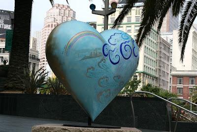 Heart & Heart San Francisco sculpture Keiko Nelson