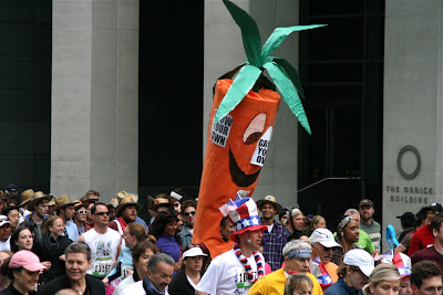 Carrot costume Bay to Breakers 2010