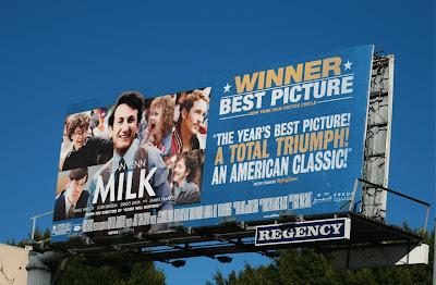 MILK movie billboard