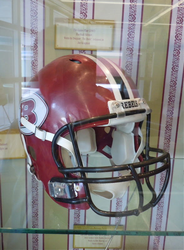Dwayne Johnson's Game Plan football helmet