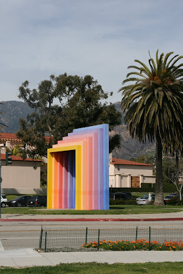 Multi-coloured arch in Santa Barbara