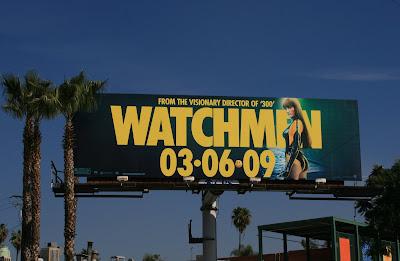 Watchmen - Silk Spectre II movie billboard