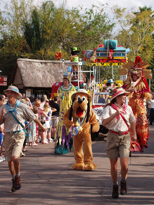 Pluto at Disney Parade in Florida